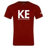 Adidas Cardinal Logo T Shirt-KE Kappa Epsilon Stacked