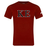 Adidas Cardinal Logo T Shirt-Two Color Greek Letters