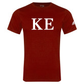 Adidas Cardinal Logo T Shirt-One Color Greek Letters