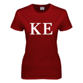 Ladies Cardinal T Shirt-One Color Greek Letters