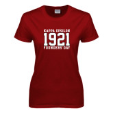 Ladies Cardinal T Shirt-Founders Day Jersey