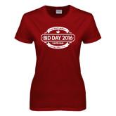 Ladies Cardinal T Shirt-Bid Day Personalized Year