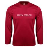 Performance Cardinal Longsleeve Shirt-Kappa Epsilon Flat