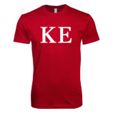 Next Level SoftStyle Cardinal T Shirt-One Color Greek Letters