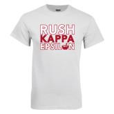 White T Shirt-Rush Stacked