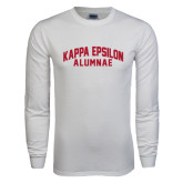 White Long Sleeve T Shirt-Alumnae