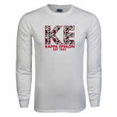 White Long Sleeve T Shirt-KE Roses