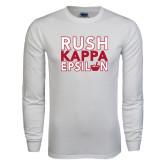 White Long Sleeve T Shirt-Rush Stacked