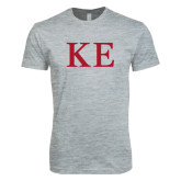 Next Level SoftStyle Heather Grey T Shirt-One Color Greek Letters