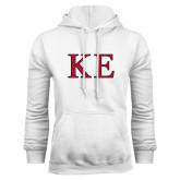 White Fleece Hoodie-Two Color Greek Letters