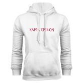 White Fleece Hoodie-Kappa Epsilon Flat