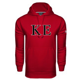Under Armour Cardinal Performance Sweats Team Hoodie-Two Color Greek Letters