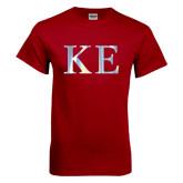 Cardinal T Shirt-Greek Letters Foil