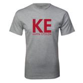 Grey T Shirt-KE Kappa Epsilon Stacked