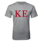 Grey T Shirt-One Color Greek Letters