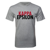 Grey T Shirt-Kappa Epsilon Stacked
