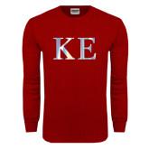 Cardinal Long Sleeve T Shirt-Greek Letters Foil