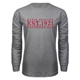 Grey Long Sleeve T Shirt-Founders Day Tradtional