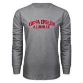 Grey Long Sleeve T Shirt-Alumnae