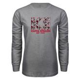 Grey Long Sleeve T Shirt-KE Roses