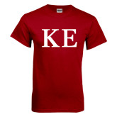 Cardinal T Shirt-One Color Greek Letters