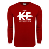 Cardinal Long Sleeve T Shirt-Primary Mark w/out Text