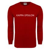 Cardinal Long Sleeve T Shirt-Kappa Epsilon Word Mark
