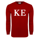 Cardinal Long Sleeve T Shirt-One Color Greek Letters