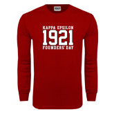 Cardinal Long Sleeve T Shirt-Founders Day Jersey