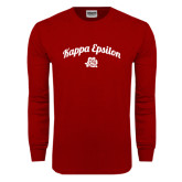 Cardinal Long Sleeve T Shirt-Arched Script