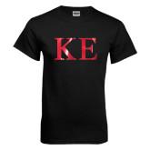 Black T Shirt-Greek Letters Foil