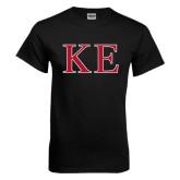 Black T Shirt-Two Color Greek Letters
