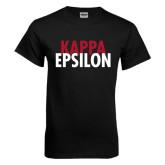 Black T Shirt-Kappa Epsilon Stacked