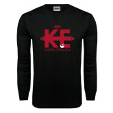 Black Long Sleeve T Shirt-Primary Mark w/out Text