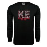 Black Long Sleeve T Shirt-KE Roses