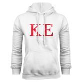 White Fleece Hoodie-Greek Letters Foil