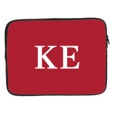 15 inch Neoprene Laptop Sleeve-One Color Greek Letters