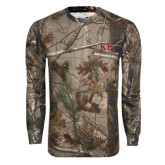 Realtree Camo Long Sleeve T Shirt w/Pocket-One Color Greek Letters