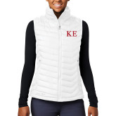 Columbia Lake 22 Ladies White Vest-One Color Greek Letters