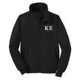Black Charger Jacket-One Color Greek Letters