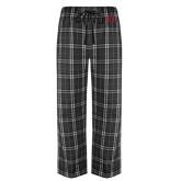 Black/Grey Flannel Pajama Pant-One Color Greek Letters