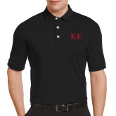 Callaway Tonal Black Polo-One Color Greek Letters