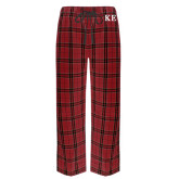 Red/Black Flannel Pajama Pant-One Color Greek Letters
