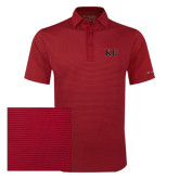 Columbia Red Omni Wick Sunday Golf Polo-Two Color Greek Letters