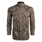 Camo Long Sleeve Performance Fishing Shirt-One Color Greek Letters