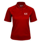 Ladies Cardinal Textured Saddle Shoulder Polo-One Color Greek Letters