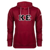 Adidas Climawarm Cardinal Team Issue Hoodie-Greek Letters Tackle Twill