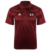 Adidas Climalite Cardinal Jaquard Select Polo-One Color Greek Letters