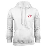 White Fleece Hoodie-One Color Greek Letters