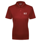 Ladies Cardinal Dry Mesh Polo-One Color Greek Letters